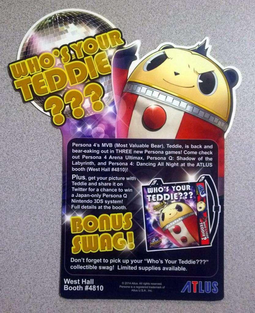 E3 2014 Atlus Badge 1