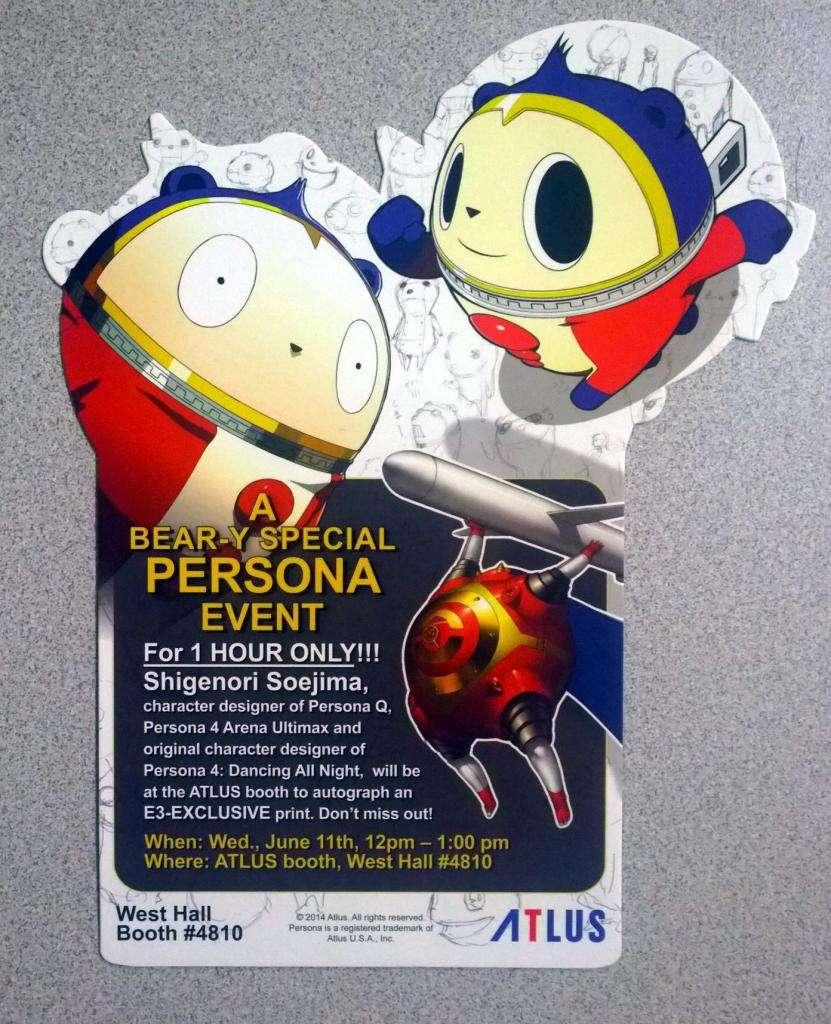 E3 2014 Atlus Badge 2