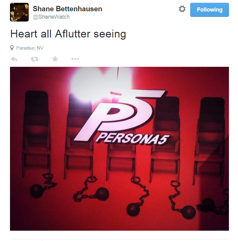 Persona 5 Teased for the PlayStation Experience.