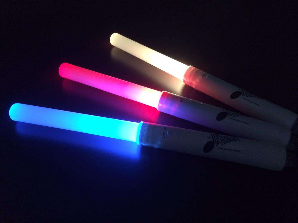 The above light sticks are from last year's concert.
