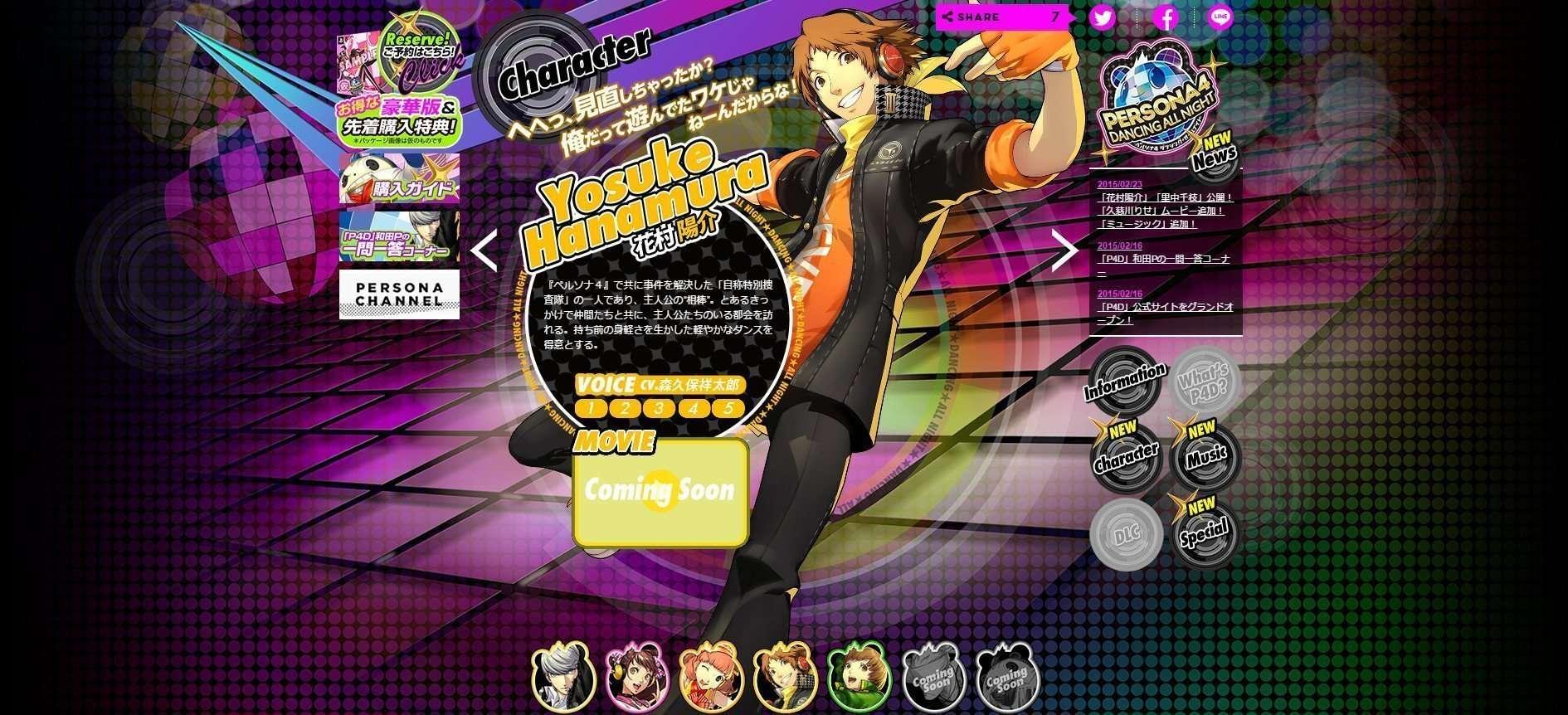 P4D Character Yosuke
