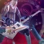 Izanagi Playing Guitar in Persona 4: Dancing All NIght
