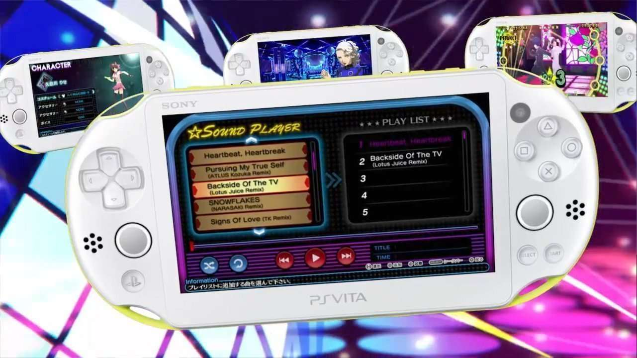 Persona 4: Dancing All Night Menus and Vita