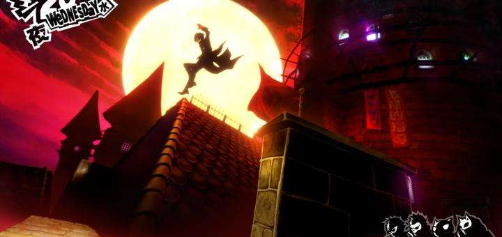 Persona 5 Screenshot Rooftops