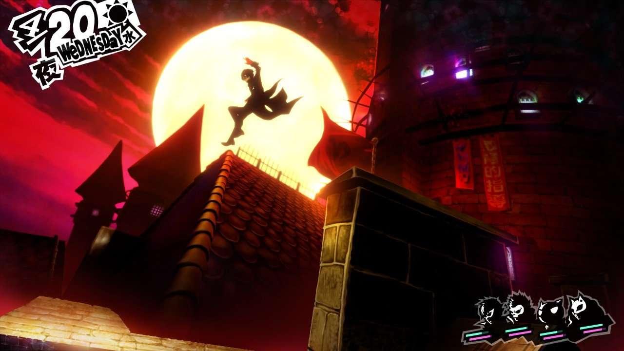 Persona 5 Screenshot Rooftops