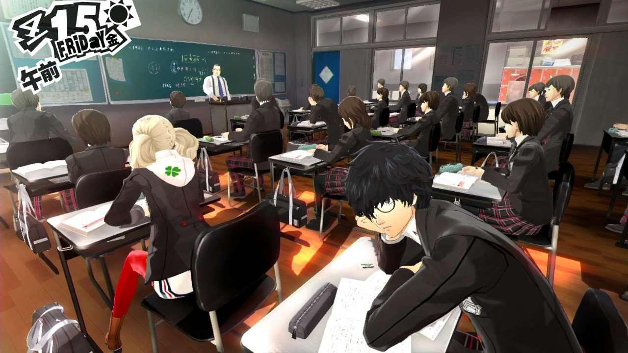 Persona 5 Screenshot Classroom