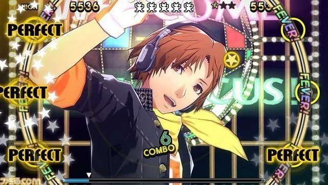 Yosuke Hanamura in P4D wearing the DENON AH-MM300.