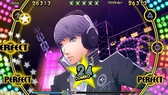 Yu Narukami in P4D wearing the DENON AH-GC20.