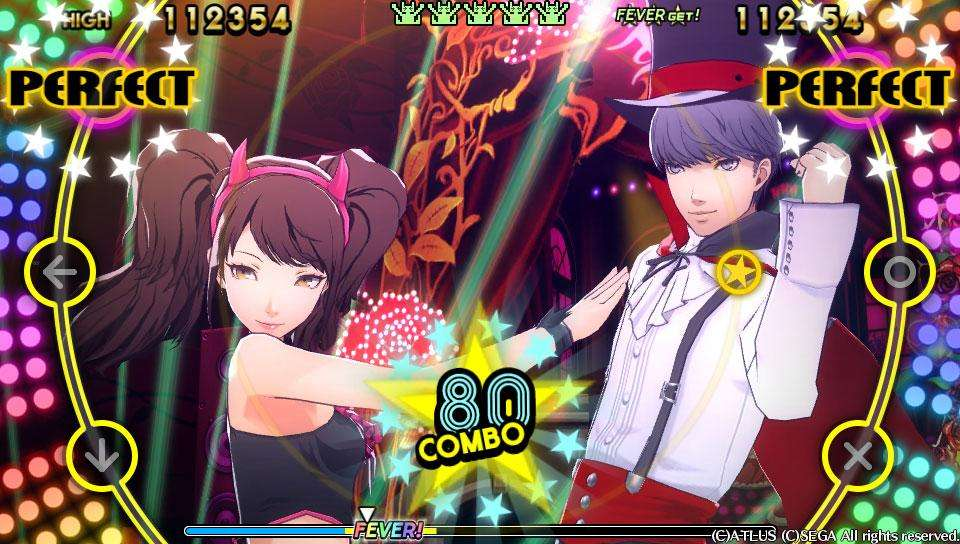 Yu Narukami and Rise Kujikawa's Halloween costumes in P4D.