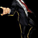 Adachi in Persona 4: Dancing All Night key art.