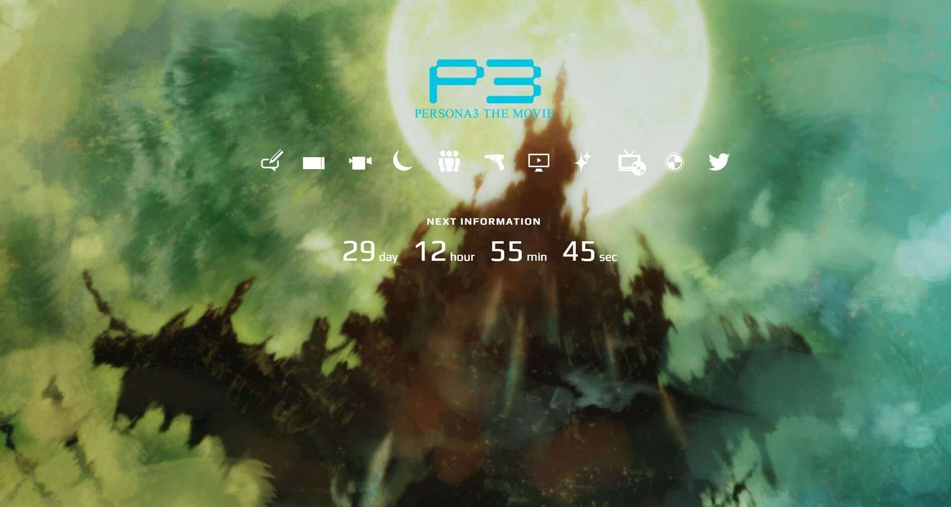 Persona 3 The Movie official website countdown for P3M#4.