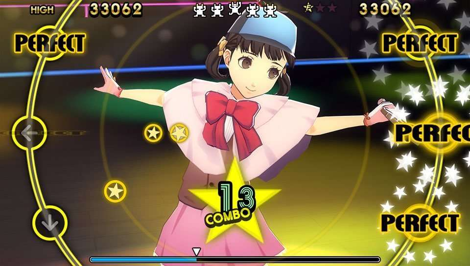 Nanako wearing her Magical Detective Loveline costume from the Persona 4 anime in P4D.