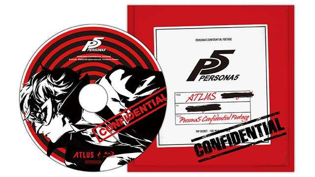 Persona 5 Blu-ray movie disc.