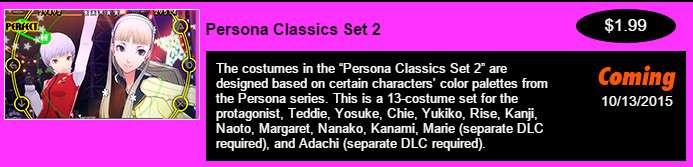Persona Classics Set 2