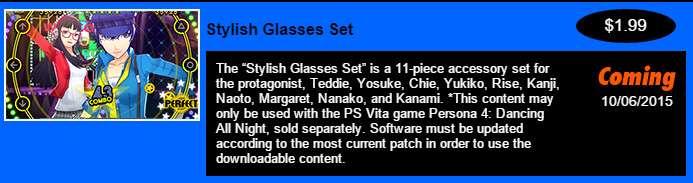 Stylish Glasses DLC