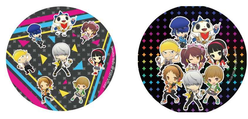 New P4D X Chara-Cre! Collaboration Coasters