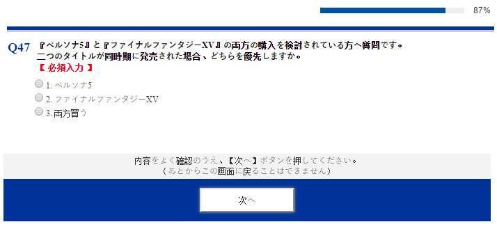 Square Enix Survey Question P5