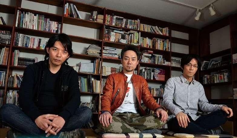 Left to Right: Masayuki Doi (character designer), Kazuyuki Yamai (producer), Ryota Kozuka (composer)