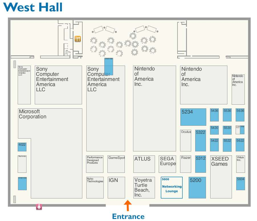 Prospective E3 2016 Floor Plan Indicates Atlus Booth Is Next To Sega Europe S Persona Central
