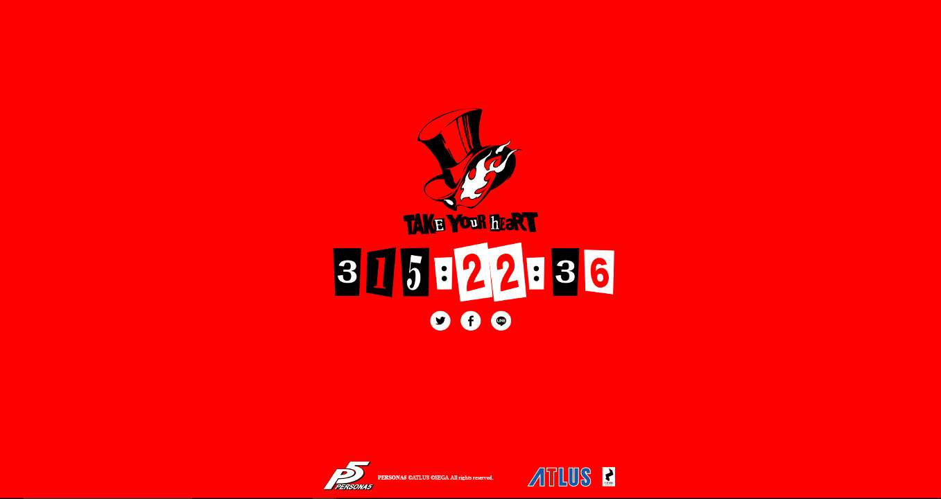 persona 5 website updated with countdown to may 5 persona central. Black Bedroom Furniture Sets. Home Design Ideas