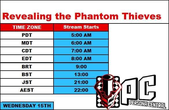 P5 Live Stream Schedule