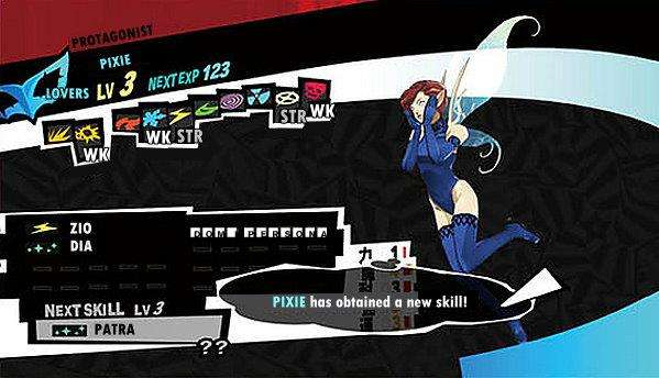 Persona 5 / Persona 5 Royal - Pixie Persona Stats and Skills