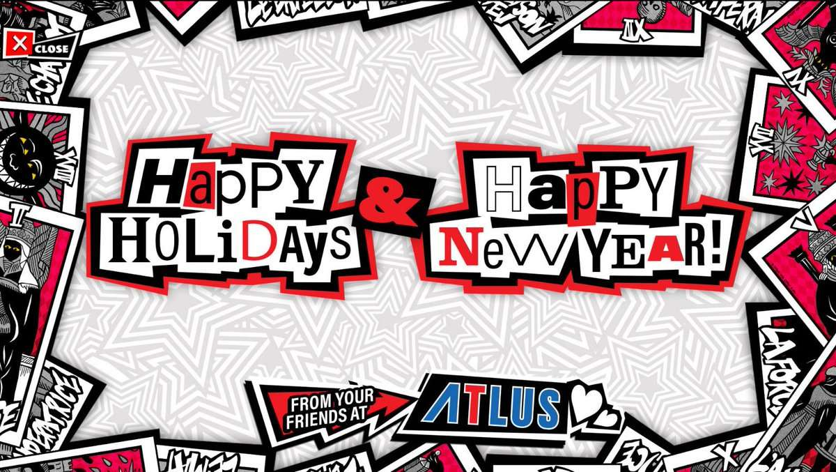 Persona 5 Christmas Gifts.Atlus Wishes Everyone A Happy New Year 2017 Persona Central