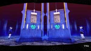 The fusion guillotines in Persona 5's Velvet Room.