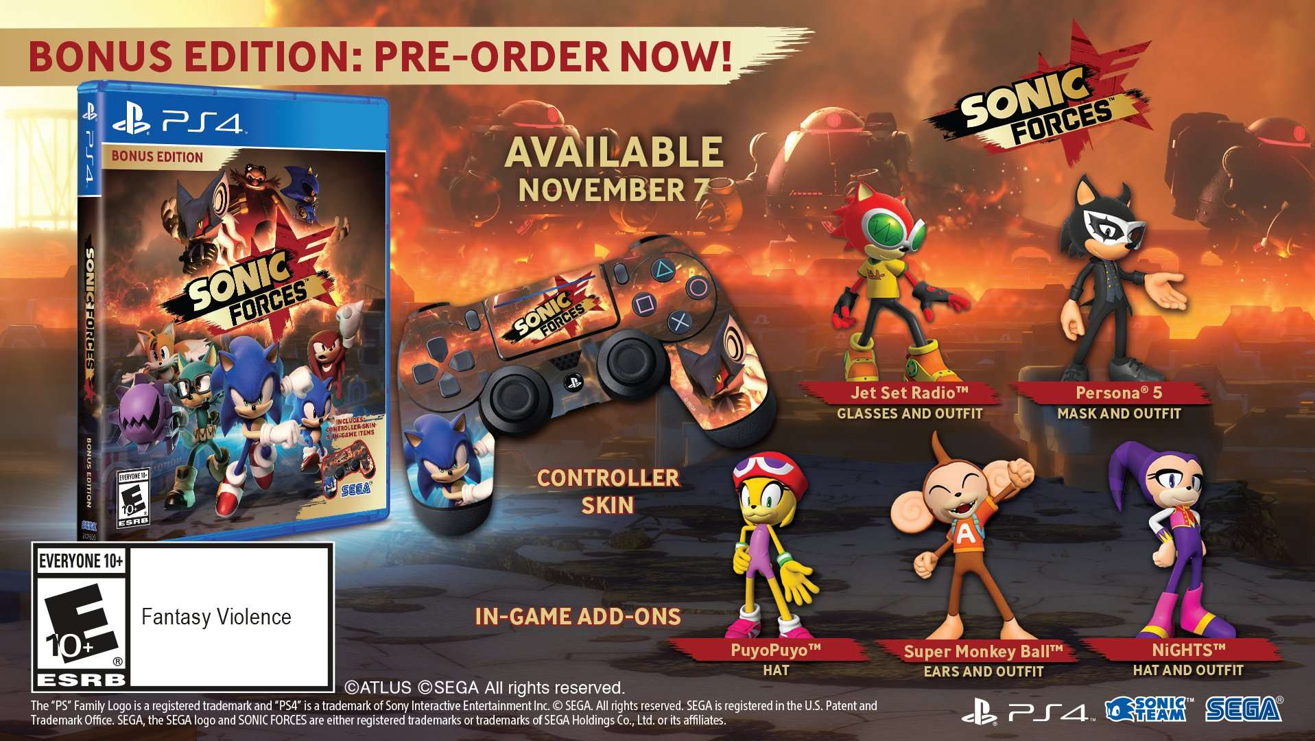 persona 5 costume announced as pre order bonus for sonic forces