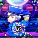 Screenshots of Elizabeth in Persona 3: Dancing Moon Night, Caroline & Justine in Persona 5: Dancing Star Night