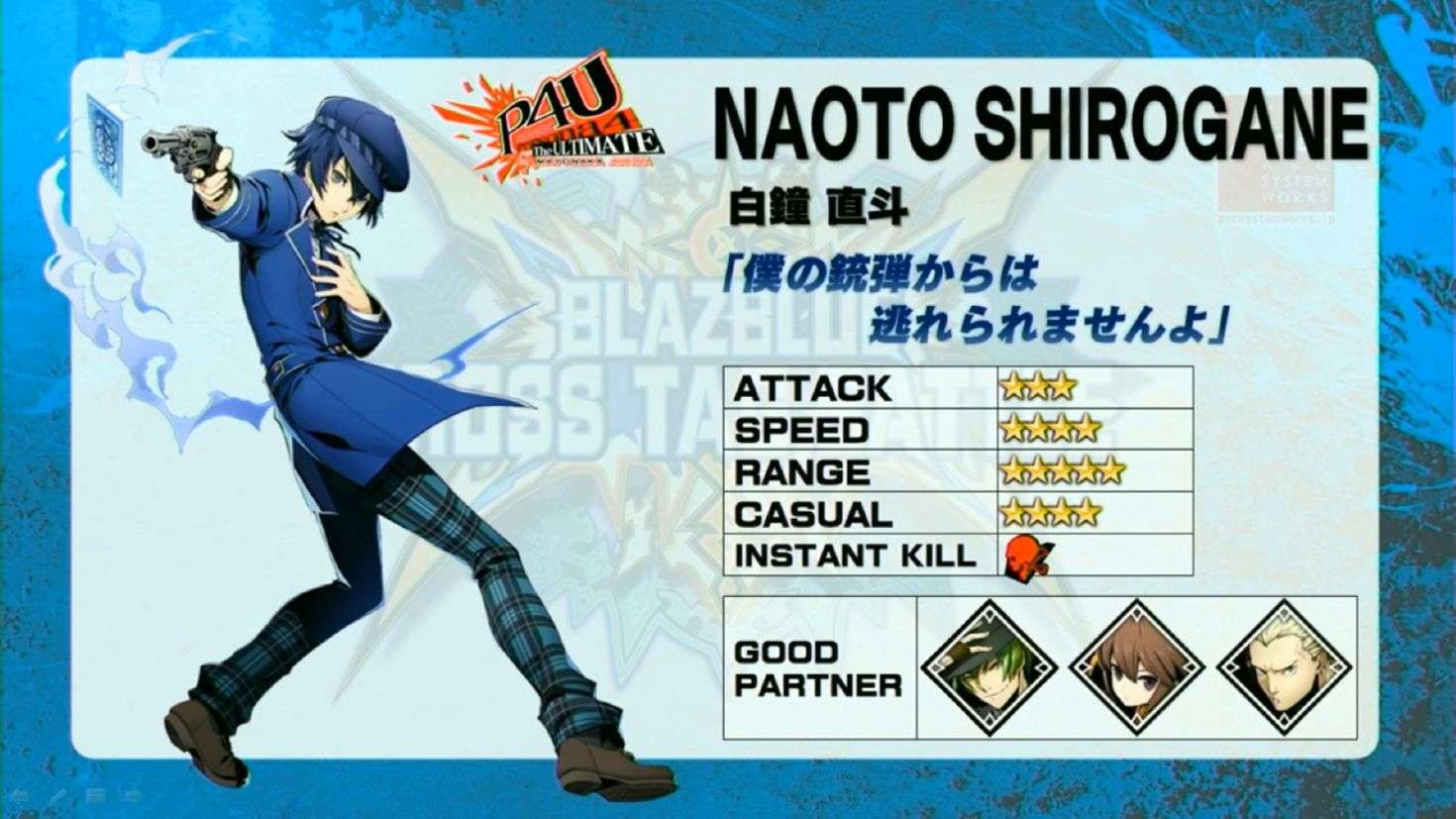Naoto Announced as Playable Persona Character for BlazBlue