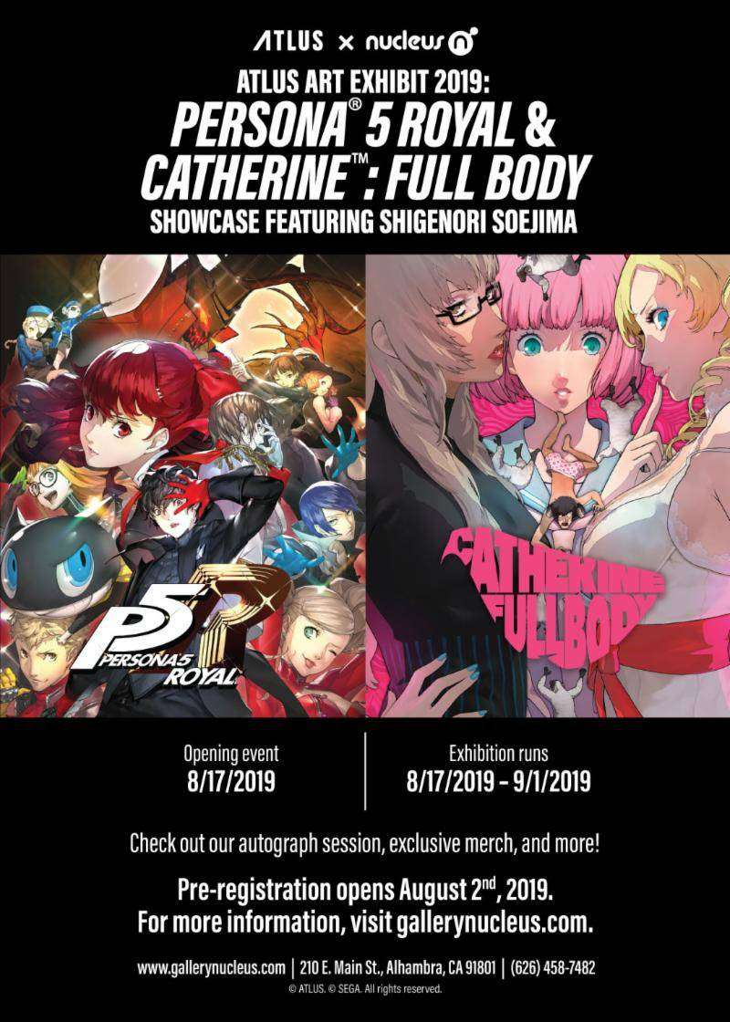 Atlus Collaborating With Gallery Nucleus For Persona 5 Royal And Catherine Full Body Art Showcase In August 2019 Persona Central